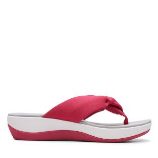 Clarks Womens Arla Glison Rose Hip Synthetic Sandals